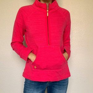 Lilly Pulitzer Popover Pink 1/2 zipper Sweater
